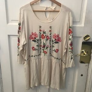 Nordstrom Rack-Floral blouse/peplum like blouse